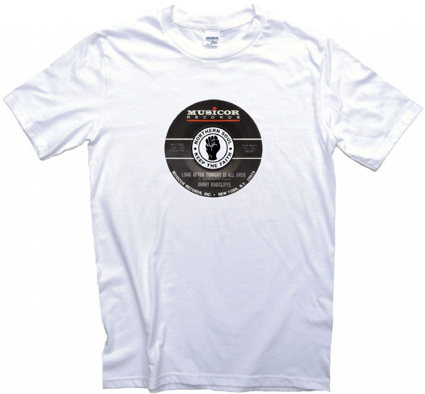 Musicor Northern Soul Record Label t shirt 12 Sizes. Jimmy Radcliffe Tee Shirt